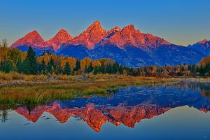 Schwabacher Landing Alpenglow Light